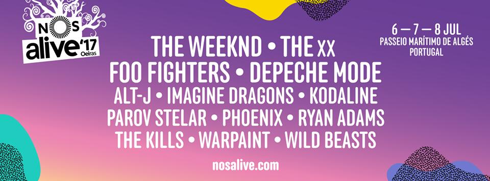 Cartel hasta el momento del NOS Alive 2017
