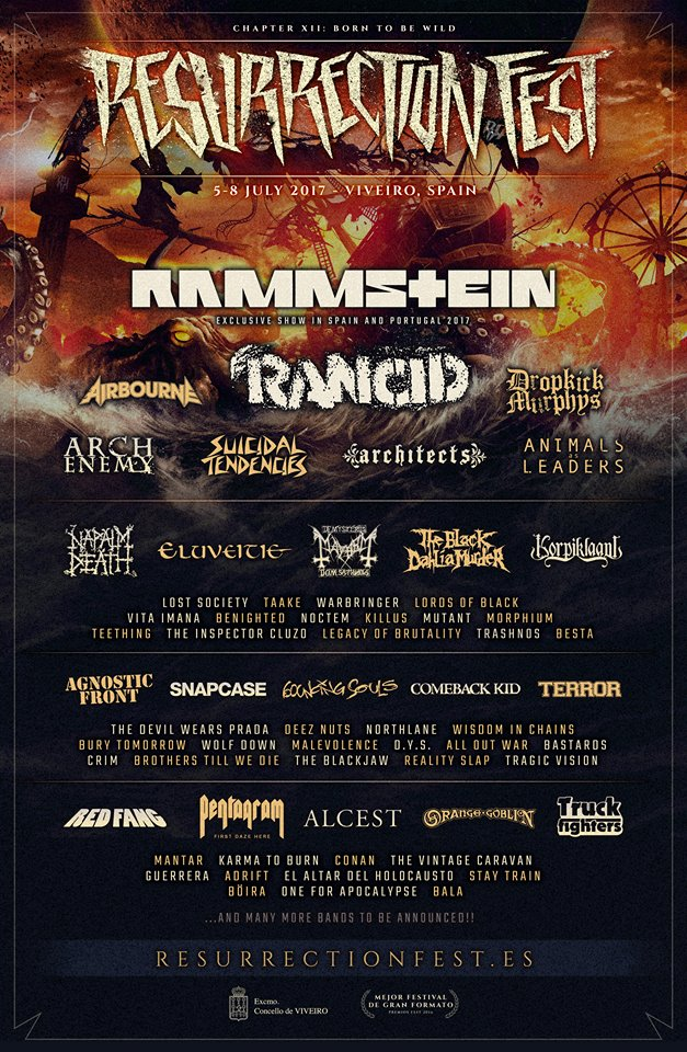 Cartel hasta el momento del Resurrection Fest 2017