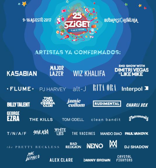 Cartel hasta el momento del Sziget 2017