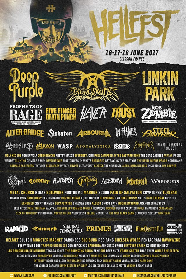 Cartel completo del Hellfest 2017