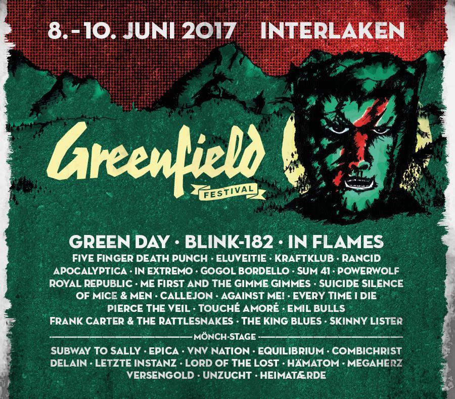 Cartel hasta el momento del Greenfield 2017