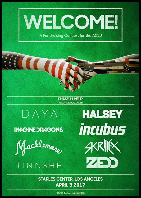 Primera fase del concierto benéfico a ACLU Nationwide 2017