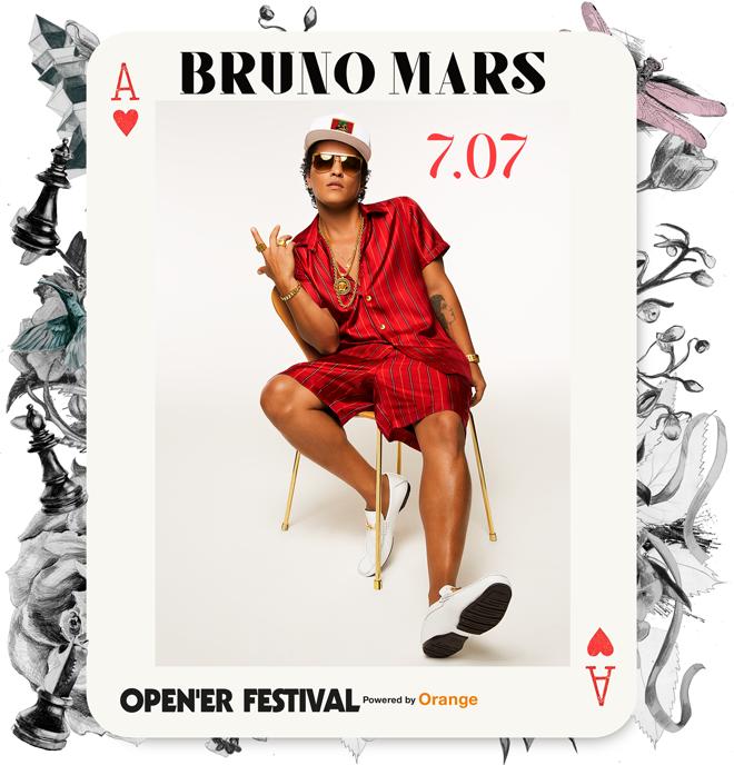 Bruno Mars, al Open'er 2018