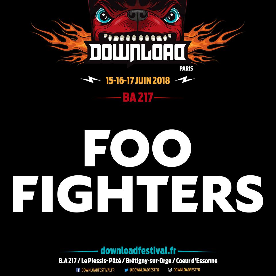 Foo Fighters, al Download Festival París 2018