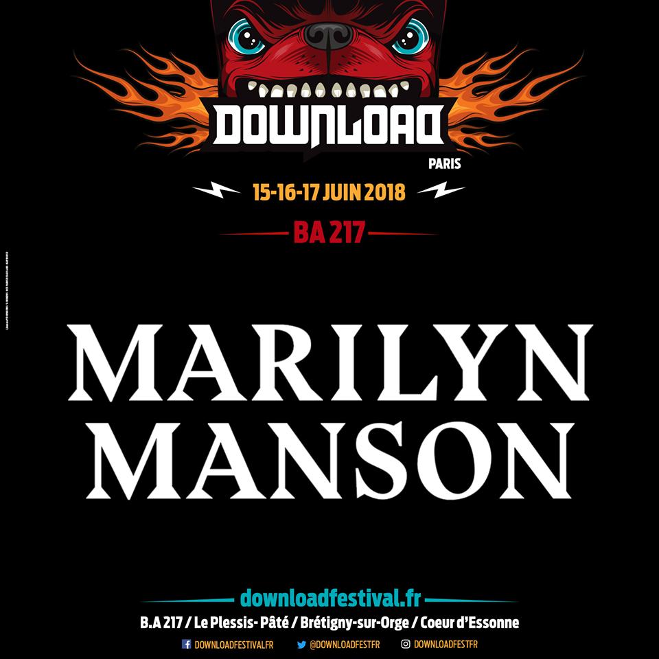 Marilyn Manson, al Download Festival París 2018
