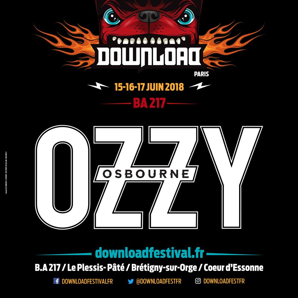 Ozzy Osbourne, al Download Festival París 2018