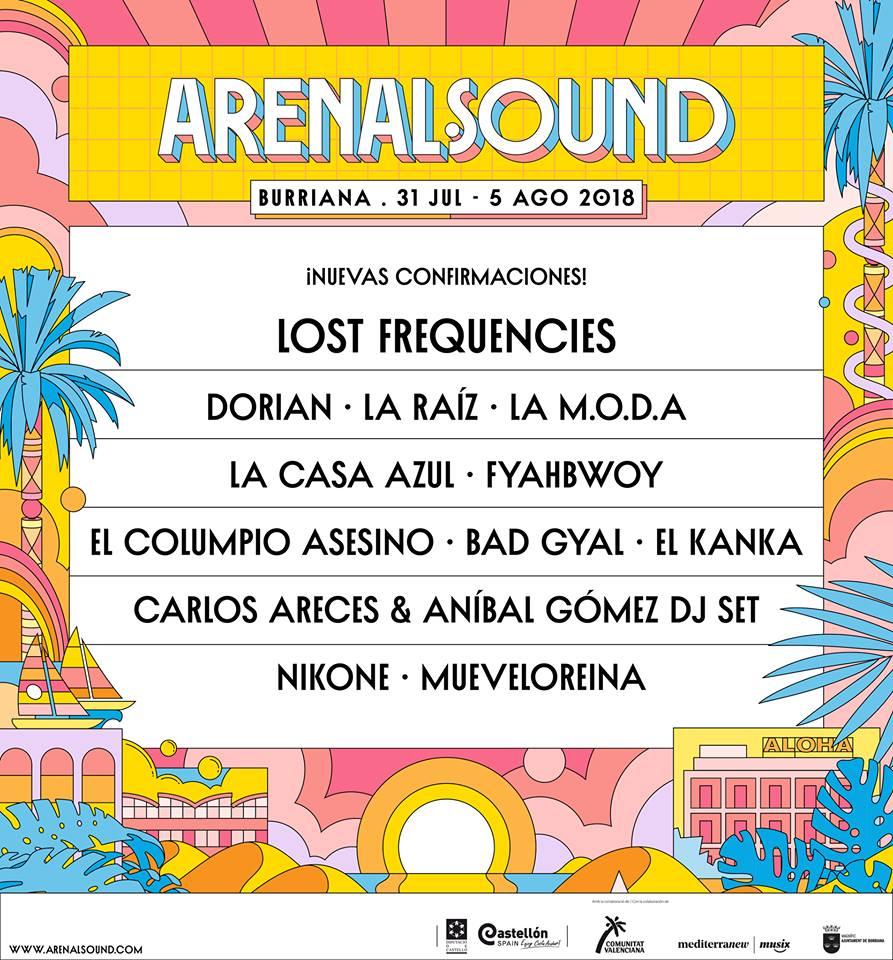 Nuevas confirmaciones del Arenal Sound 2018