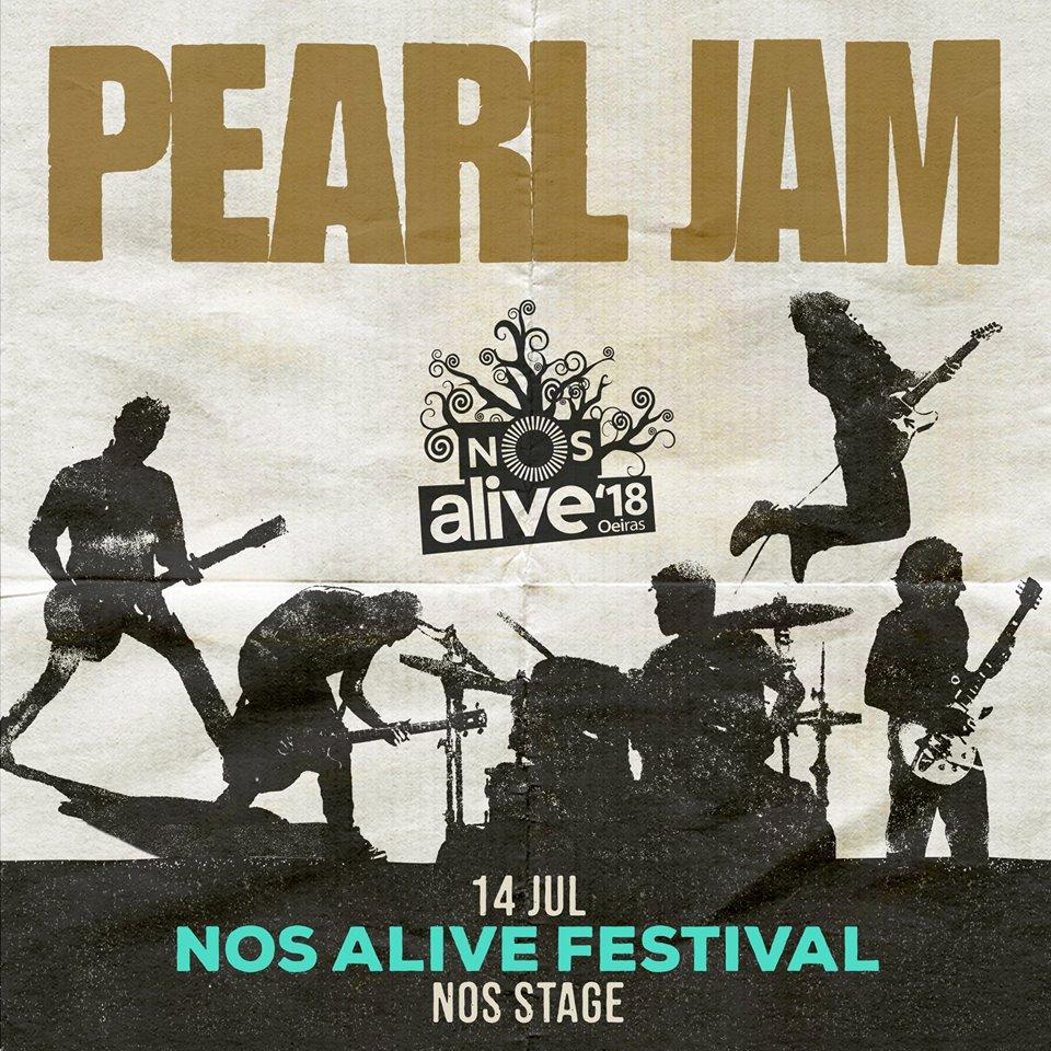 Pearl Jam, al NOS Alive 2018