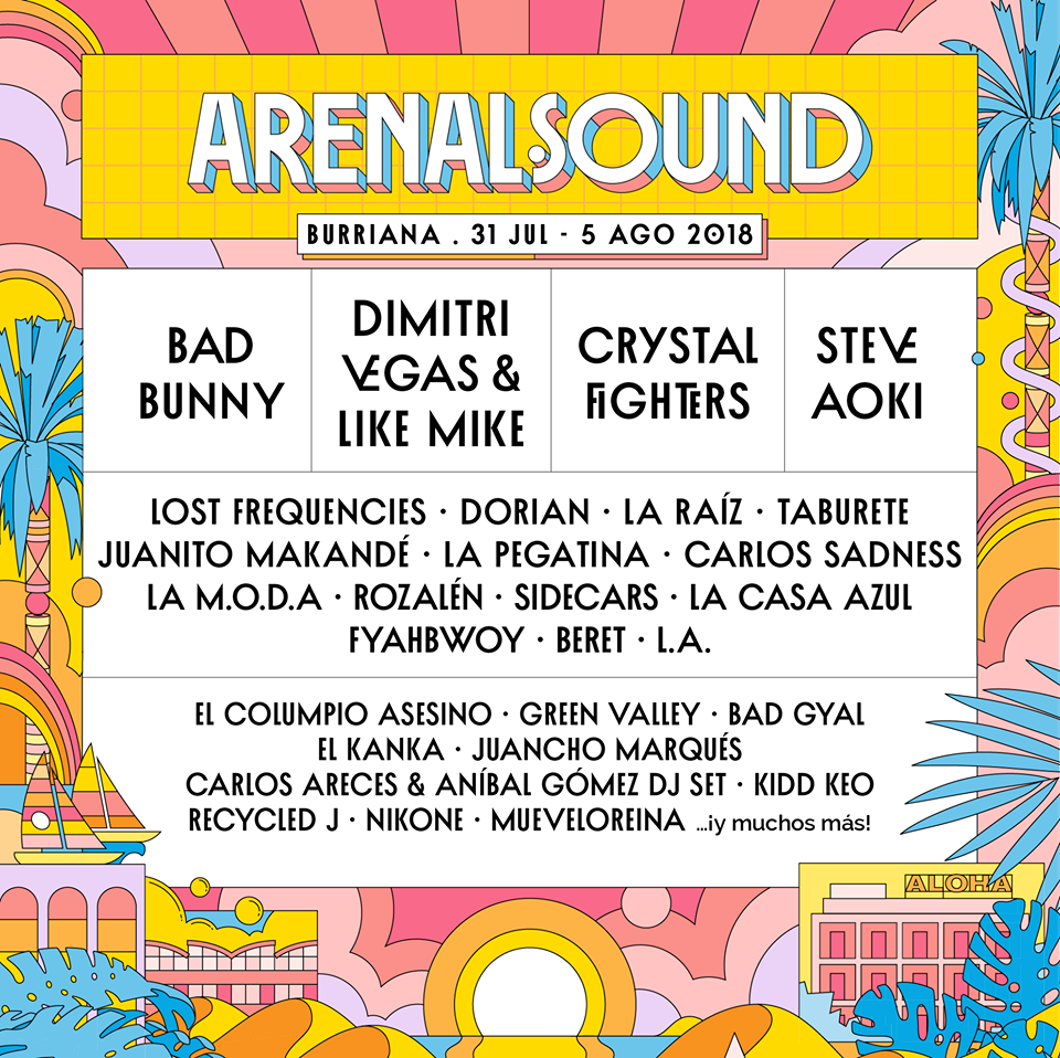 Cartel hasta el momento del Arenal Sound 2018