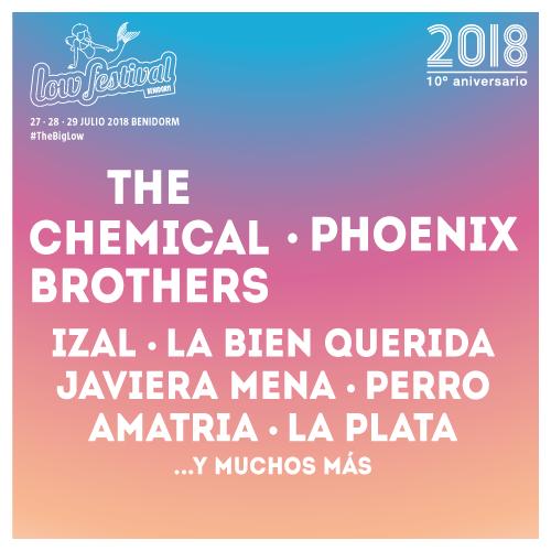 Cartel hasta el momento del Low Festival 2018