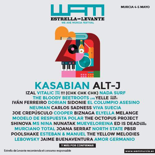 Cartel (casi) completo del WAM 2018