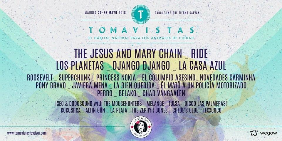 Cartel completo del Tomavistas 2018