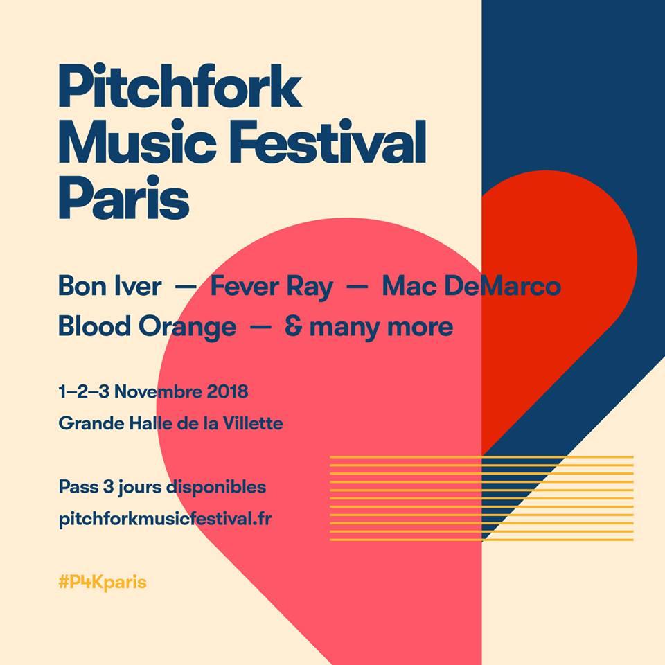 Primeras confirmaciones del Pitchfork Music Festival Paris 2018
