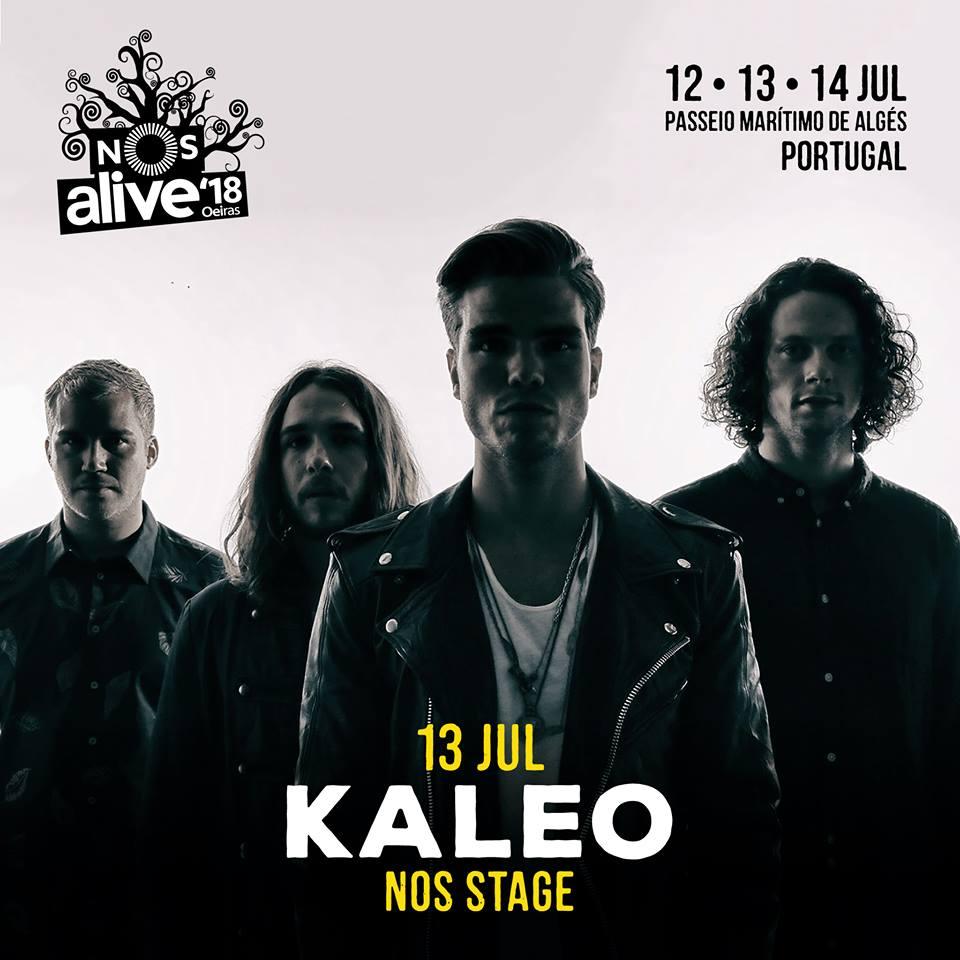 Kaleo, al NOS Alive 2018