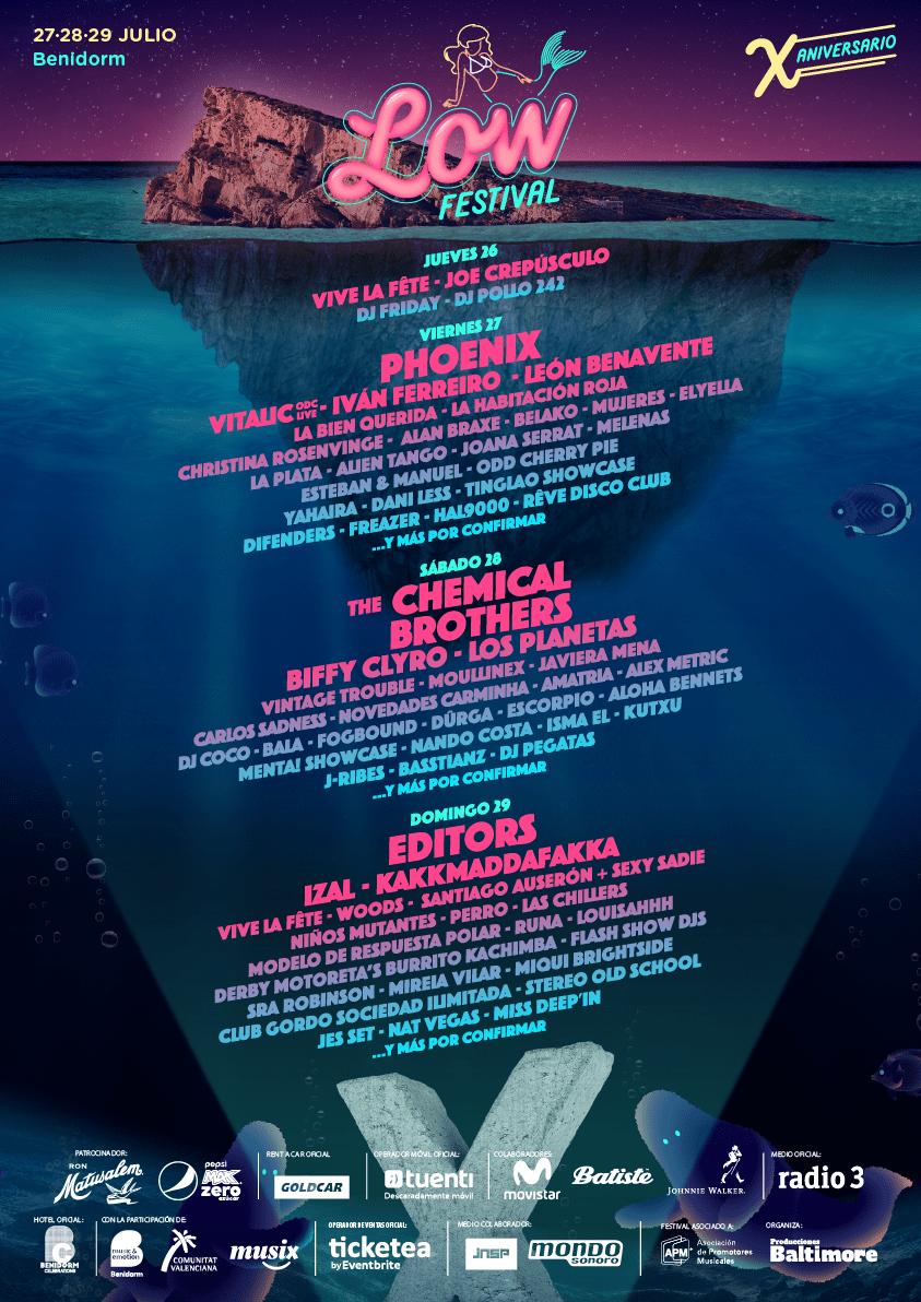 Cartel por días del Low Festival 2018