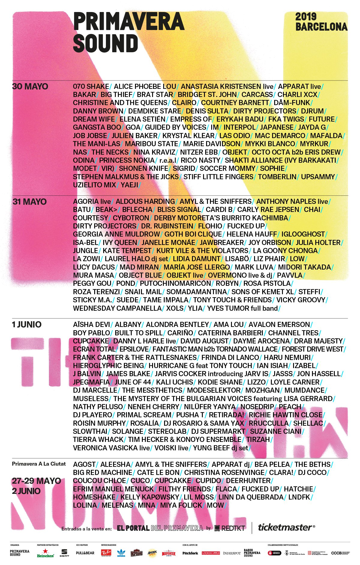 Cartel Primavera Sound 2019
