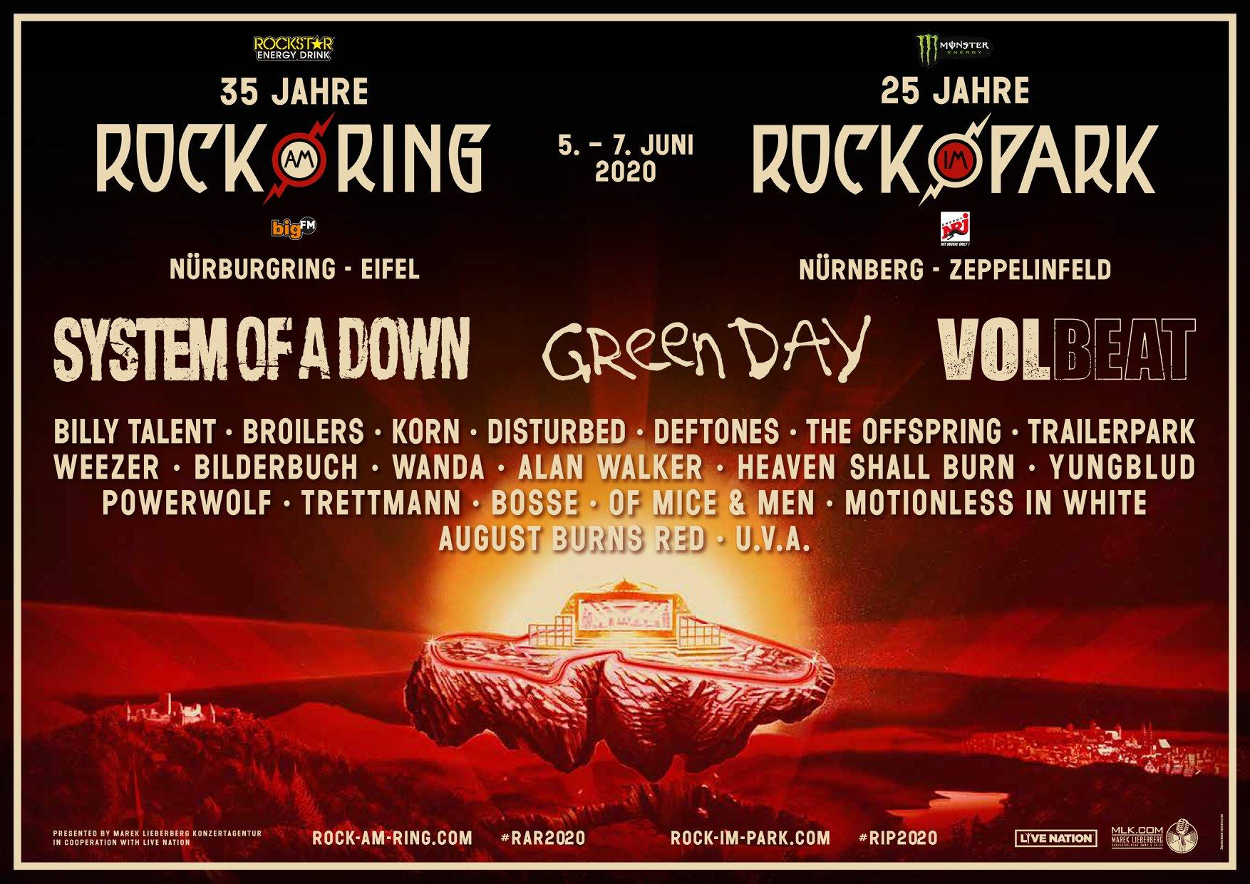Rock am Ring y Rock im Park 2020