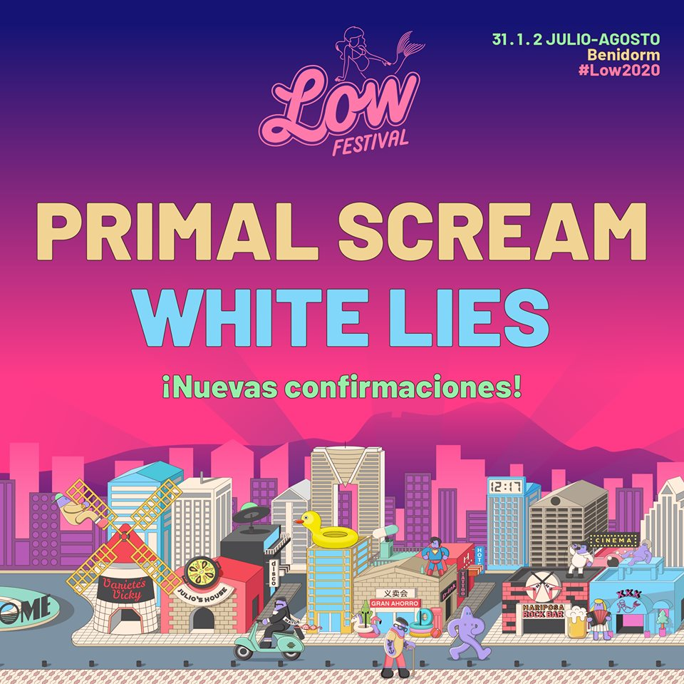 Primal Scream y White Lies, al Low Festival 2020