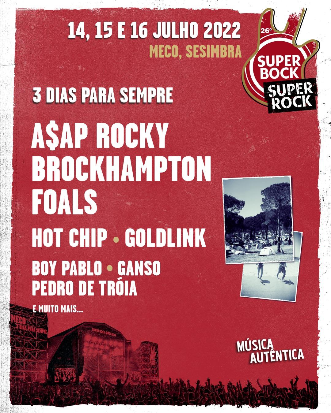 Primeras confirmaciones del Super Bock Super Rock 2022